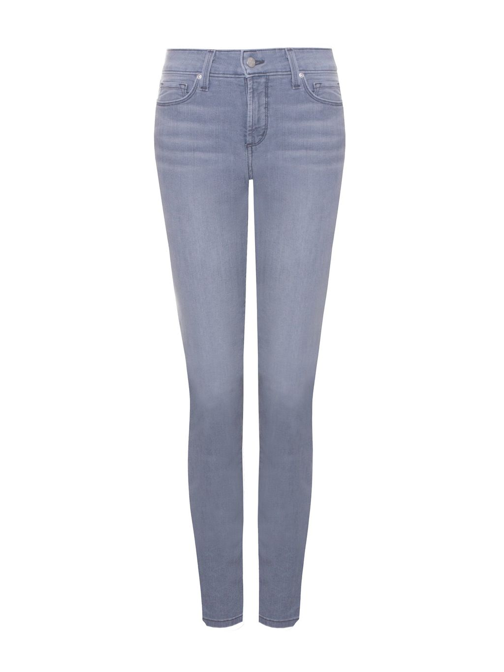 Skinny In Lightweight Denim Petite, Grey - style: skinny leg; length: standard; pattern: plain; pocket detail: traditional 5 pocket; waist: mid/regular rise; predominant colour: lilac; occasions: casual; fibres: cotton - stretch; jeans detail: whiskering, shading down centre of thigh, washed/faded; texture group: denim; pattern type: fabric; season: s/s 2015; wardrobe: highlight