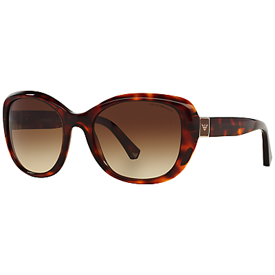 Ea4052 Square Framed Sunglasses - predominant colour: chocolate brown; secondary colour: tan; occasions: casual, holiday; style: round; size: large; material: plastic/rubber; pattern: tortoiseshell; finish: plain; season: s/s 2015