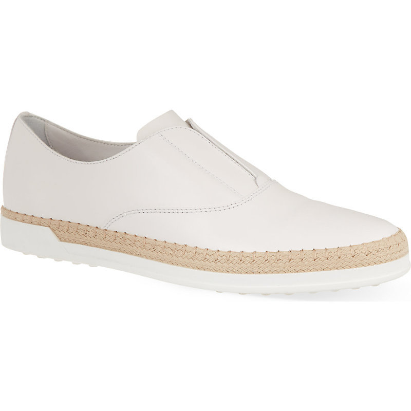Gomrafia Leather Loafers, Women's, Eur 39 / 6 Uk Women, White - predominant colour: white; occasions: casual, creative work; material: leather; heel height: flat; toe: round toe; style: loafers; finish: plain; pattern: plain; shoe detail: moulded soul; season: s/s 2015; wardrobe: highlight