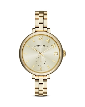 Marc Sally Watch, 36mm - predominant colour: gold; occasions: casual, evening, work, creative work; style: fashion watch; size: large/oversized; material: chain/metal; finish: metallic; pattern: plain; season: s/s 2015