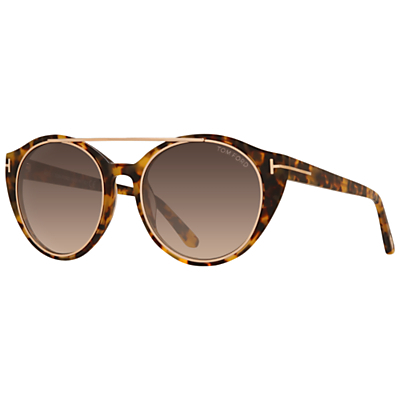 Ft0383 Joan Sunglasses, Tortoise - predominant colour: tan; occasions: casual, holiday; style: round; size: standard; material: plastic/rubber; pattern: tortoiseshell; finish: plain; season: s/s 2015