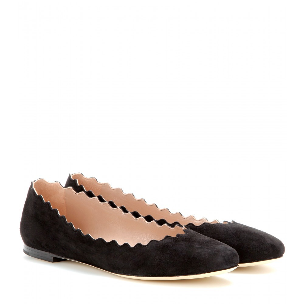 Lauren Suede Ballerinas - predominant colour: black; occasions: casual, work, creative work; material: suede; heel height: flat; toe: round toe; style: ballerinas / pumps; finish: plain; pattern: plain; season: s/s 2015; wardrobe: basic