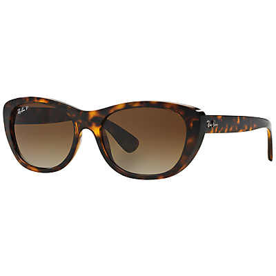 Rb4227 Square Framed Sunglasses - predominant colour: chocolate brown; secondary colour: tan; occasions: casual, holiday; style: square; size: standard; material: plastic/rubber; pattern: tortoiseshell; finish: plain; season: s/s 2015
