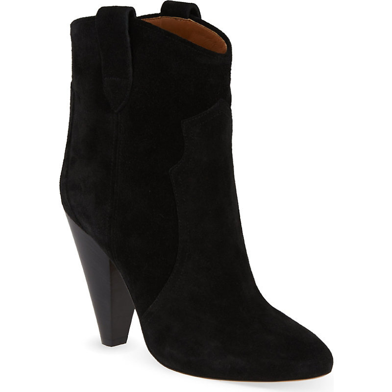 Roxann Ankle Boots, Women's, Eur 35 / 2 Uk Women, Black - predominant colour: black; occasions: casual, creative work; material: suede; heel height: high; heel: cone; toe: round toe; boot length: ankle boot; style: cowboy; finish: plain; pattern: plain; season: s/s 2015; wardrobe: highlight