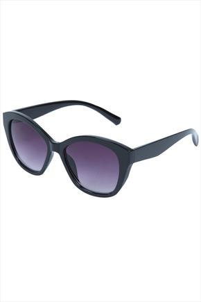 Black Frame Sunglasses - predominant colour: black; occasions: casual, holiday; style: d frame; size: standard; material: plastic/rubber; pattern: plain; finish: plain; season: s/s 2015; wardrobe: basic