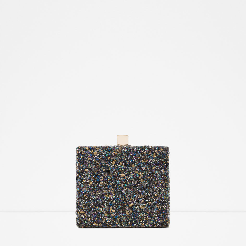 Jewelled MinaudiÉre - predominant colour: black; occasions: evening, occasion; type of pattern: standard; style: clutch; length: hand carry; size: small; material: fabric; pattern: plain; finish: metallic; embellishment: jewels/stone; season: s/s 2015; wardrobe: event