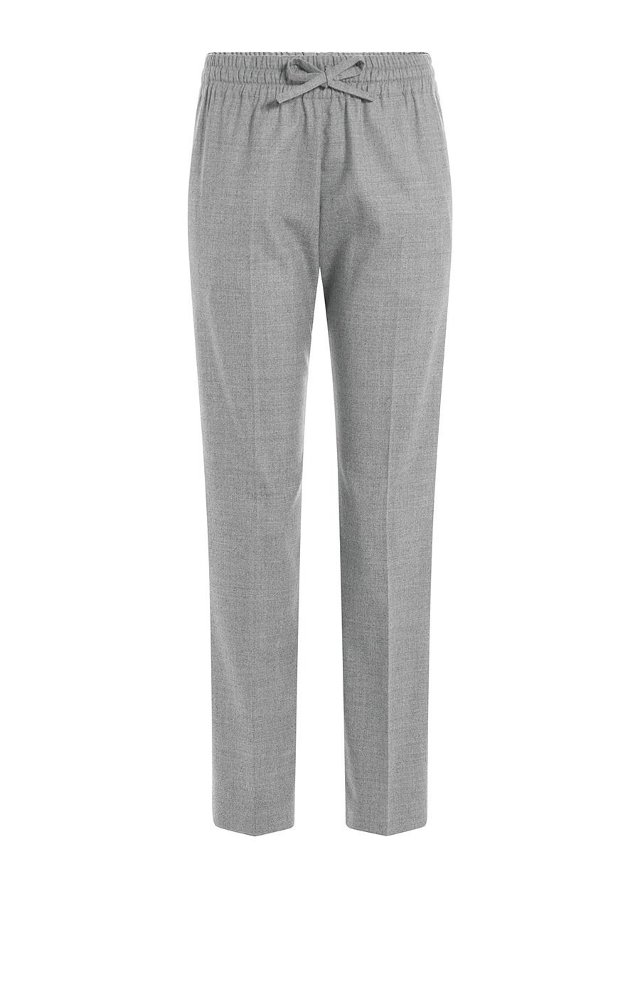 Wool Pants Grey - length: standard; pattern: plain; waist detail: belted waist/tie at waist/drawstring; waist: mid/regular rise; predominant colour: mid grey; occasions: casual, creative work; fibres: wool - 100%; fit: slim leg; pattern type: fabric; texture group: other - light to midweight; style: standard; season: s/s 2015