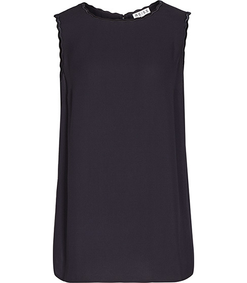 Bonnie Tank Top - pattern: plain; sleeve style: sleeveless; length: below the bottom; predominant colour: black; occasions: casual, evening, work, creative work; style: top; fit: body skimming; neckline: crew; sleeve length: sleeveless; pattern type: fabric; texture group: other - light to midweight; season: s/s 2015; wardrobe: basic