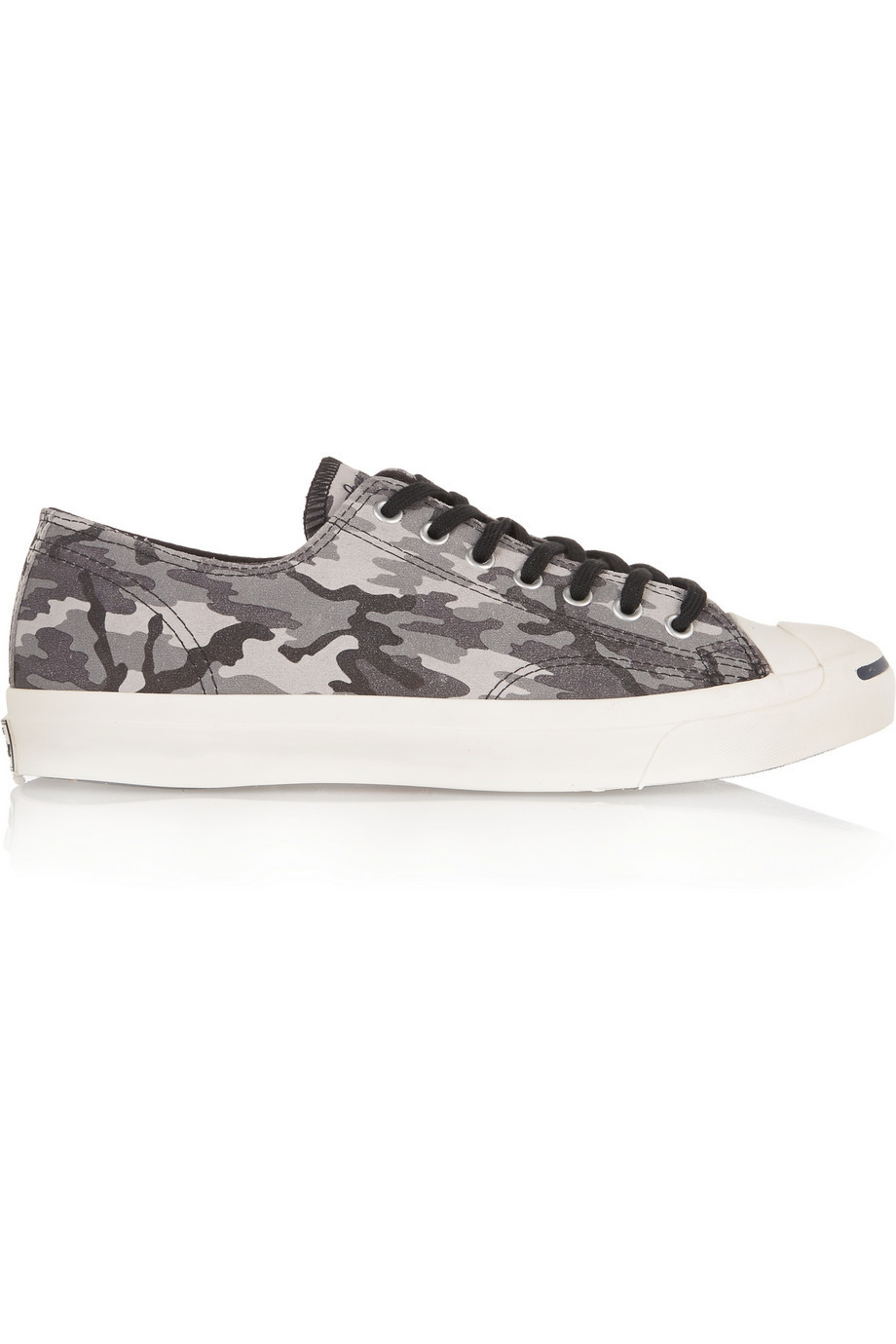 Jack Purcell Camouflage Print Canvas Sneakers Gray - secondary colour: charcoal; predominant colour: light grey; occasions: casual; material: fabric; heel height: flat; toe: round toe; style: trainers; finish: plain; pattern: camouflage; shoe detail: moulded soul; season: s/s 2015