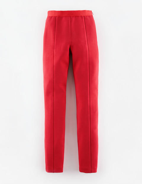 Arianna Pant Rouge Red Women, Rouge Red - length: standard; pattern: plain; waist: mid/regular rise; predominant colour: true red; occasions: casual, creative work; fit: straight leg; texture group: woven light midweight; style: standard; season: s/s 2015; wardrobe: highlight