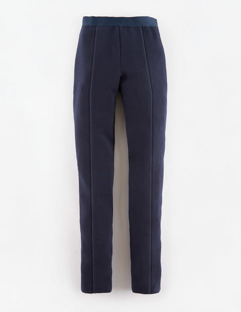 Arianna Pant Navy Women, Navy - length: standard; pattern: plain; waist: high rise; predominant colour: navy; occasions: casual, creative work; waist detail: narrow waistband; fit: straight leg; pattern type: fabric; texture group: woven light midweight; style: standard; season: s/s 2015