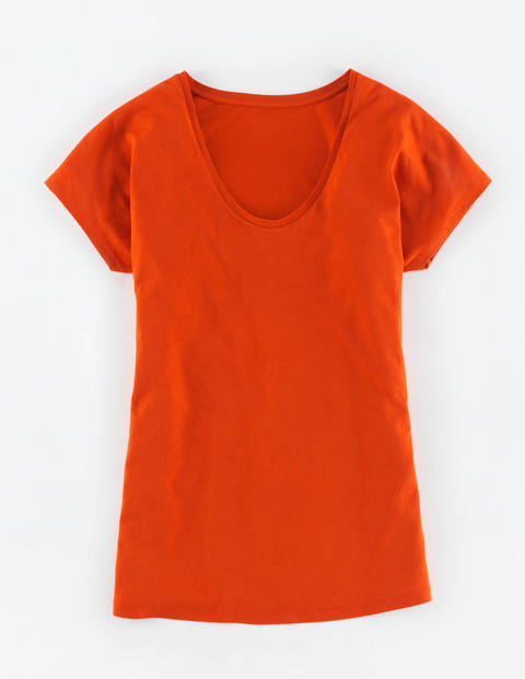 Supersoft V Neck Tee Orange Red Women, Orange Red - neckline: v-neck; pattern: plain; style: t-shirt; predominant colour: bright orange; occasions: casual; length: standard; fibres: cotton - mix; fit: body skimming; sleeve length: short sleeve; sleeve style: standard; pattern type: fabric; texture group: jersey - stretchy/drapey; season: s/s 2015