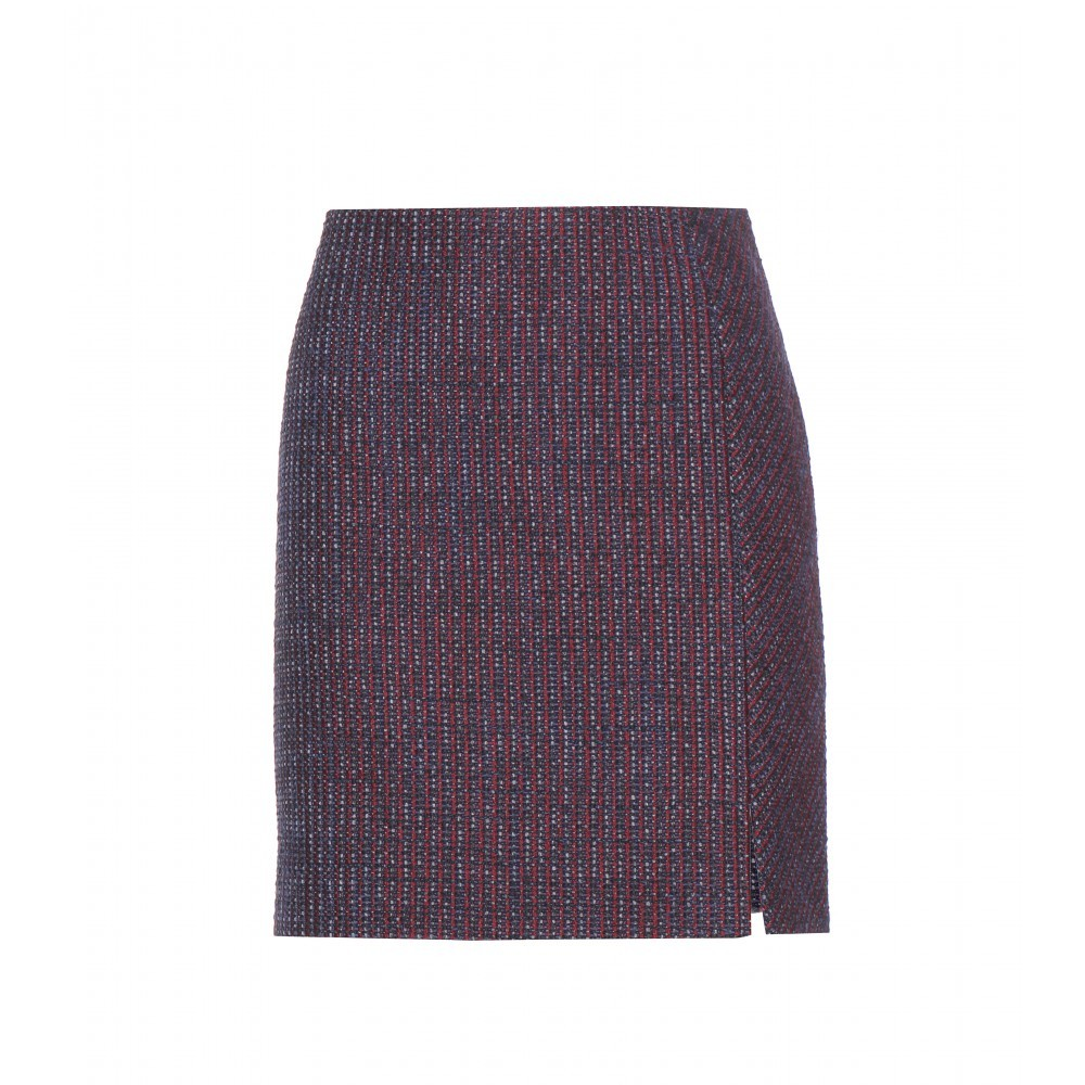 Tweed Skirt - length: mid thigh; fit: tailored/fitted; waist: high rise; pattern: herringbone/tweed; secondary colour: taupe; predominant colour: black; occasions: casual, creative work; style: mini skirt; fibres: wool - mix; pattern type: fabric; texture group: tweed - light/midweight; pattern size: standard (bottom); season: a/w 2015; wardrobe: highlight
