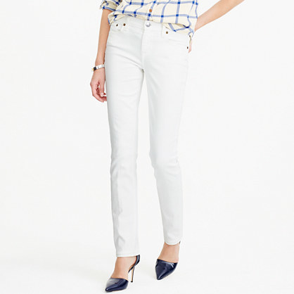 Petite Matchstick Jean In White - style: skinny leg; length: standard; pattern: plain; pocket detail: traditional 5 pocket; waist: mid/regular rise; predominant colour: white; occasions: casual; fibres: cotton - stretch; texture group: denim; pattern type: fabric; season: a/w 2015; wardrobe: highlight