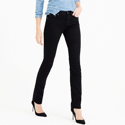 Tall Matchstick Jean In Black - style: skinny leg; length: standard; pattern: plain; waist: high rise; pocket detail: traditional 5 pocket; predominant colour: black; occasions: casual; fibres: cotton - stretch; texture group: denim; pattern type: fabric; season: a/w 2015; wardrobe: basic
