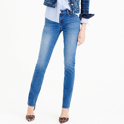 Matchstick Jean In Preston Wash - style: skinny leg; length: standard; pattern: plain; waist: high rise; pocket detail: traditional 5 pocket; predominant colour: denim; occasions: casual; fibres: cotton - stretch; jeans detail: shading down centre of thigh; texture group: denim; pattern type: fabric; season: a/w 2015; wardrobe: basic