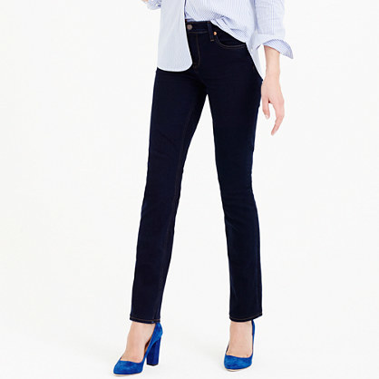 Tall Matchstick Jean In Classic Rinse - pattern: plain; waist: high rise; pocket detail: traditional 5 pocket; style: slim leg; predominant colour: navy; occasions: casual; length: ankle length; fibres: cotton - stretch; jeans detail: dark wash; texture group: denim; pattern type: fabric; season: a/w 2015; wardrobe: basic