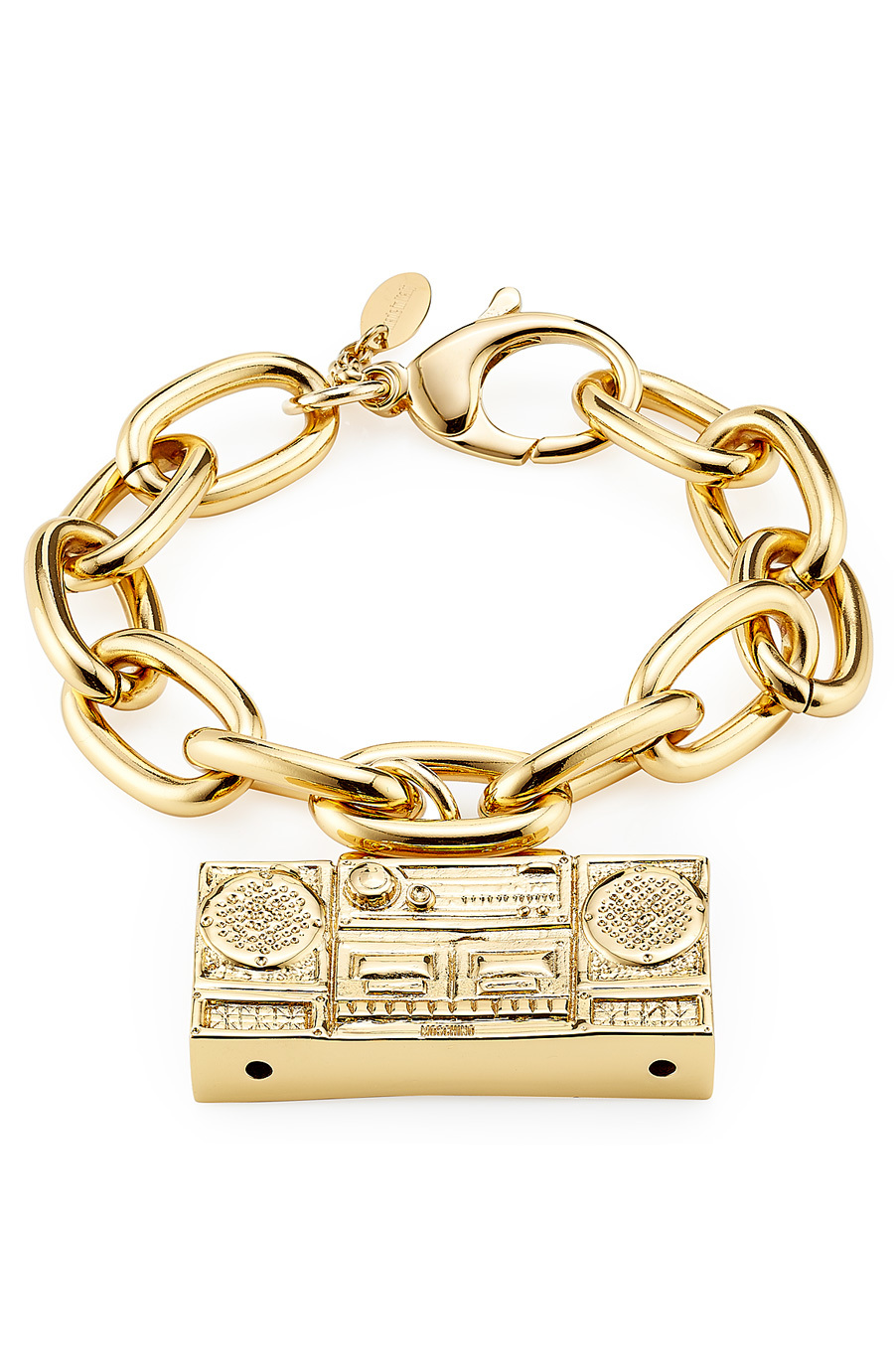 Gold Tone Brass Bracelet Gold - predominant colour: gold; occasions: casual, evening, creative work; style: chain; size: large/oversized; material: chain/metal; finish: plain; season: a/w 2015