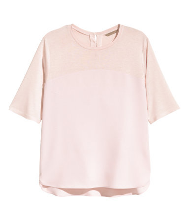 + Short Sleeved Blouse - pattern: plain; style: t-shirt; predominant colour: blush; secondary colour: nude; occasions: casual, creative work; length: standard; fibres: viscose/rayon - 100%; fit: straight cut; neckline: crew; back detail: keyhole/peephole detail at back; sleeve length: half sleeve; sleeve style: standard; texture group: crepes; pattern type: fabric; season: a/w 2015; wardrobe: basic