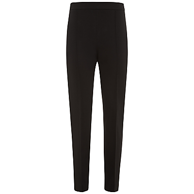 Ponte Slim Leg Trousers, Black - length: standard; pattern: plain; waist: mid/regular rise; predominant colour: black; occasions: casual, work, creative work; fit: slim leg; pattern type: fabric; texture group: woven light midweight; style: standard; season: a/w 2015