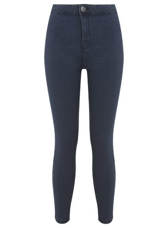Womens Petite Steffi Indigo Jean, Indigo - style: skinny leg; length: standard; pattern: plain; waist: high rise; predominant colour: navy; occasions: casual, evening; fibres: cotton - stretch; texture group: denim; pattern type: fabric; season: a/w 2015; wardrobe: basic