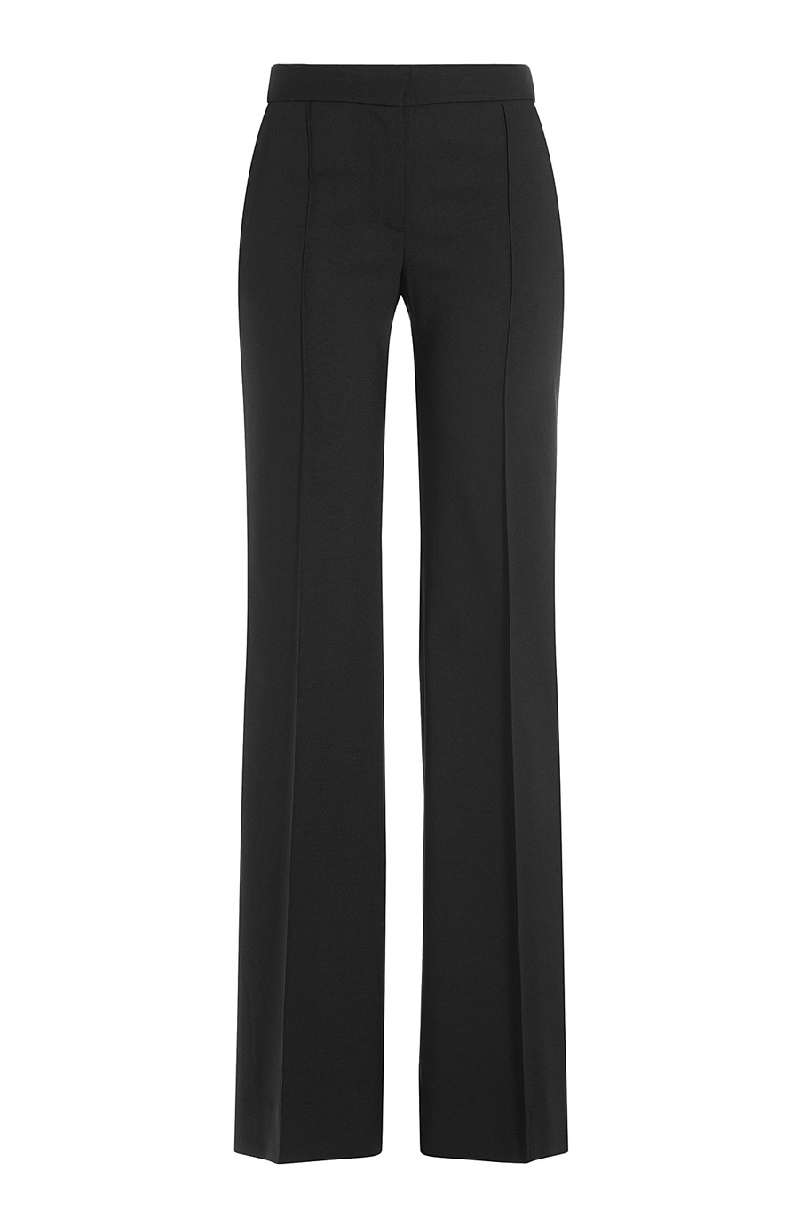 Wide Leg Wool Pants - length: standard; pattern: plain; hip detail: draws attention to hips; waist: mid/regular rise; predominant colour: black; occasions: casual, work, creative work; waist detail: feature waist detail; fit: wide leg; pattern type: fabric; texture group: woven light midweight; style: standard; season: a/w 2015; wardrobe: basic