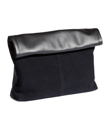 Clutch Bag - predominant colour: black; occasions: evening; style: clutch; length: hand carry; size: oversized; material: faux leather; pattern: plain; finish: plain; season: a/w 2015; wardrobe: event