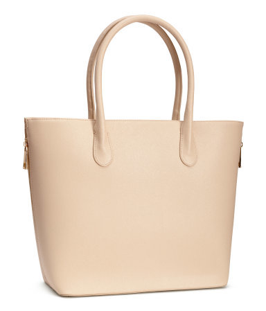 Handbag - predominant colour: ivory/cream; occasions: casual, work, creative work; type of pattern: standard; style: shoulder; length: shoulder (tucks under arm); size: standard; material: faux leather; pattern: plain; finish: plain; season: a/w 2015; wardrobe: investment