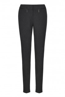 Tall Premium Slim Zip Trousers At - length: standard; pattern: plain; waist: mid/regular rise; predominant colour: charcoal; occasions: work; waist detail: narrow waistband; fit: slim leg; pattern type: fabric; texture group: other - light to midweight; style: standard; season: a/w 2015