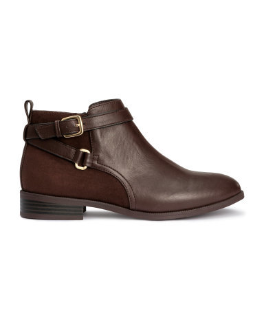 Jodhpur Boots - predominant colour: chocolate brown; occasions: casual, creative work; material: faux leather; heel height: flat; embellishment: buckles; heel: standard; toe: round toe; boot length: ankle boot; style: standard; finish: plain; pattern: plain; season: a/w 2015; wardrobe: basic
