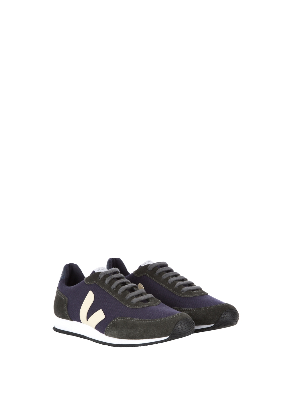 Womenswear Veja Arcade Trainer - predominant colour: navy; secondary colour: black; occasions: casual; material: faux leather; heel height: flat; toe: round toe; style: trainers; finish: plain; pattern: colourblock; shoe detail: moulded soul; season: a/w 2015; wardrobe: highlight
