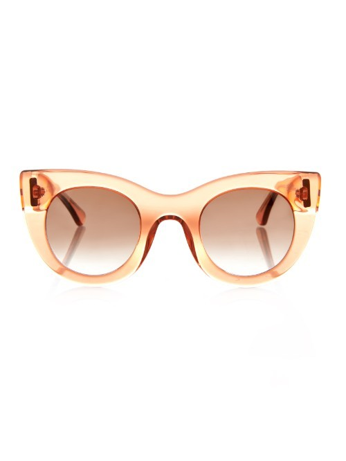 Orgasmy Cat Eye Sunglasses - predominant colour: blush; occasions: casual, holiday; style: cateye; size: standard; material: plastic/rubber; pattern: plain; finish: plain; season: a/w 2015; wardrobe: basic