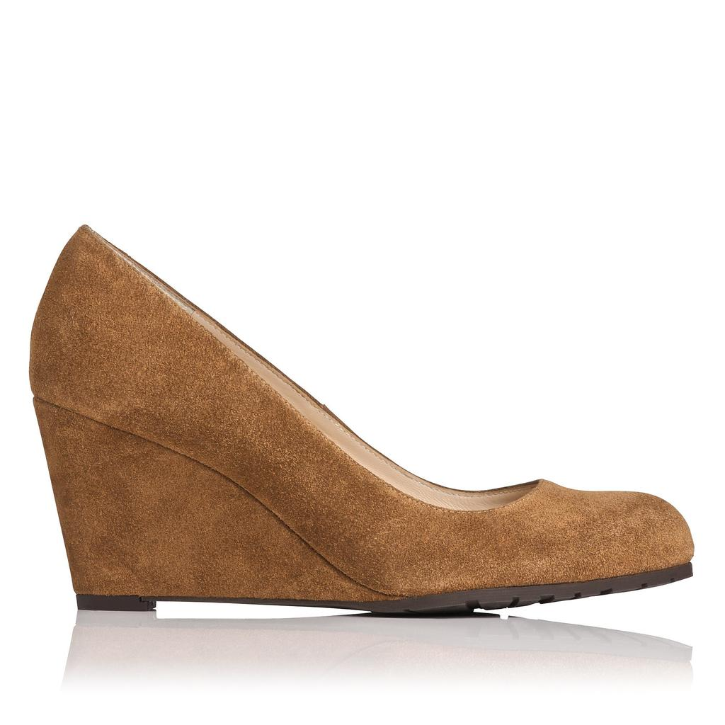 Bayleen Suede Wedge Brown Tobacco - predominant colour: camel; material: suede; heel height: high; heel: wedge; toe: round toe; style: courts; finish: plain; pattern: plain; occasions: creative work; season: a/w 2015; wardrobe: investment