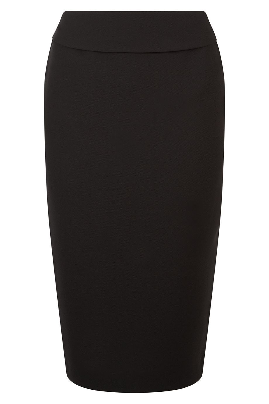 Spotlight Skirt, Black - pattern: plain; style: pencil; fit: tailored/fitted; waist: high rise; predominant colour: black; occasions: evening, work, creative work; length: on the knee; fibres: polyester/polyamide - 100%; waist detail: narrow waistband; pattern type: fabric; texture group: other - light to midweight; season: a/w 2015