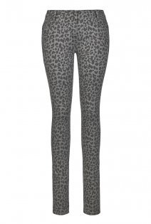 Tall The Curve Animal Print Jeans At - style: skinny leg; length: standard; pattern: plain; waist: high rise; pocket detail: traditional 5 pocket; predominant colour: mid grey; secondary colour: black; occasions: casual, creative work; fibres: cotton - stretch; texture group: denim; pattern type: fabric; pattern size: big & busy (bottom); season: a/w 2015