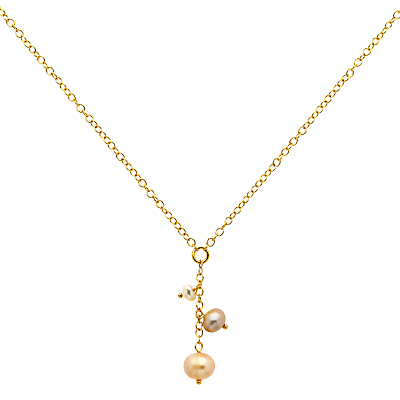 Pearl Chain Necklace, Gold - predominant colour: gold; occasions: evening, occasion, creative work; style: pendant; length: mid; size: small/fine; material: chain/metal; finish: metallic; embellishment: pearls; season: a/w 2015; wardrobe: basic