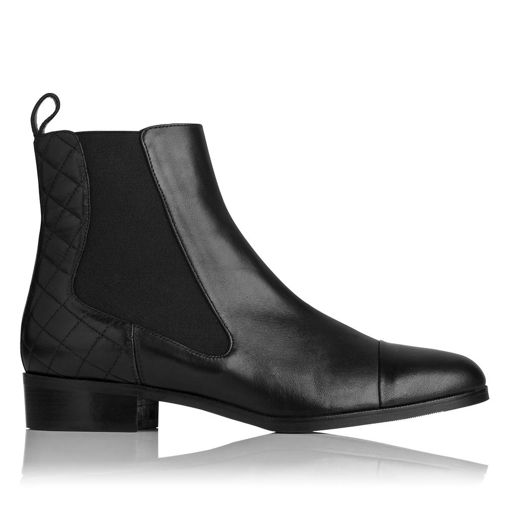 Ronia Leather Ankle Boots - predominant colour: black; occasions: casual, creative work; material: leather; heel height: flat; heel: block; toe: round toe; boot length: ankle boot; style: standard; finish: plain; pattern: plain; season: a/w 2015; wardrobe: basic