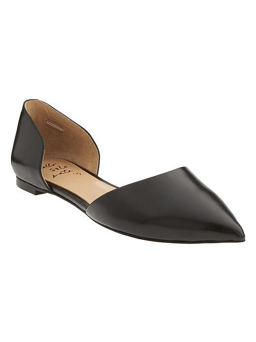 Aiden D'orsay Flat Black - predominant colour: black; occasions: casual, work, creative work; material: leather; heel height: flat; toe: pointed toe; style: ballerinas / pumps; finish: plain; pattern: plain; season: a/w 2015; wardrobe: basic