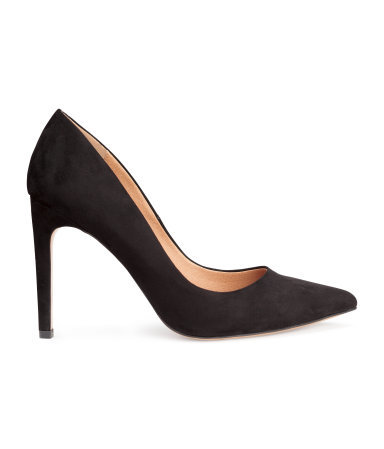 Court Shoes - predominant colour: black; occasions: evening, work, occasion, creative work; material: suede; heel: stiletto; toe: pointed toe; style: courts; finish: plain; pattern: plain; heel height: very high; season: a/w 2015; wardrobe: highlight