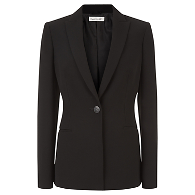 Spotlight Jacket, Black - pattern: plain; style: single breasted blazer; collar: standard lapel/rever collar; predominant colour: black; occasions: work; length: standard; fit: straight cut (boxy); fibres: polyester/polyamide - 100%; sleeve length: long sleeve; sleeve style: standard; collar break: medium; pattern type: fabric; texture group: woven light midweight; season: a/w 2015; wardrobe: investment