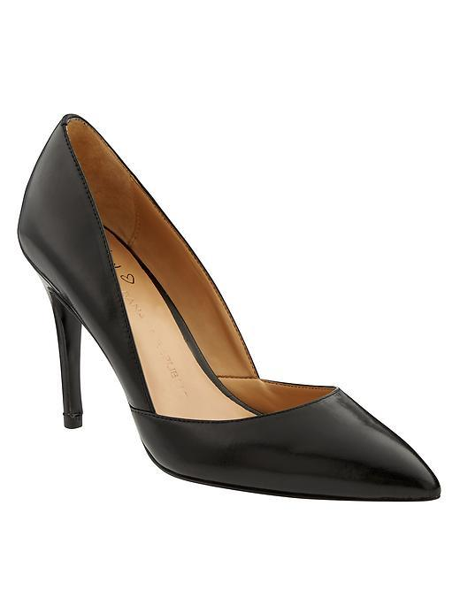 Damsel D'orsay Pump Black - predominant colour: black; occasions: evening, work, occasion; material: leather; heel height: high; heel: stiletto; toe: pointed toe; style: courts; finish: plain; pattern: plain; season: a/w 2015; wardrobe: investment