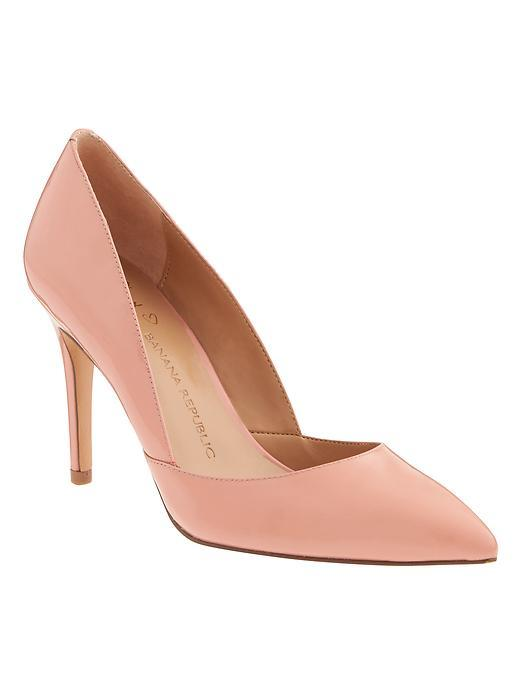 Damsel D'orsay Pump Faded Coral - predominant colour: pink; occasions: evening, occasion; material: leather; heel height: high; heel: stiletto; toe: pointed toe; style: courts; finish: plain; pattern: plain; season: a/w 2015; wardrobe: event
