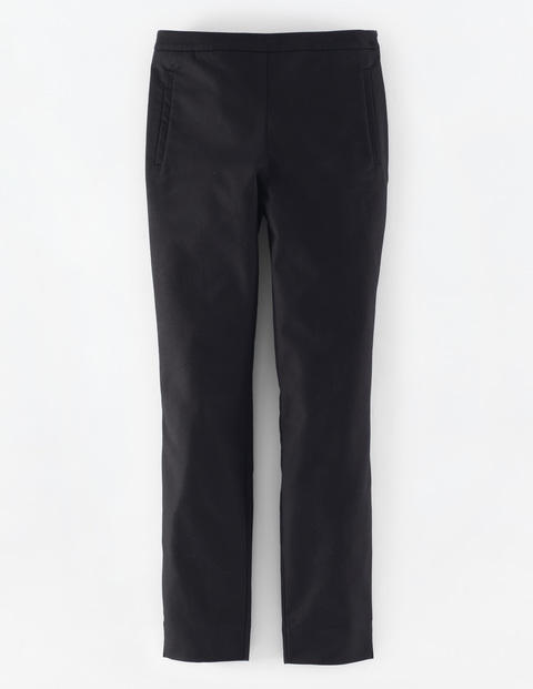 Kensington Trouser Black Women, Black - length: standard; pattern: plain; pocket detail: pockets at the sides; waist: mid/regular rise; predominant colour: black; occasions: casual; fibres: cotton - stretch; fit: slim leg; pattern type: fabric; texture group: woven light midweight; style: standard; pattern size: standard (bottom); season: a/w 2015