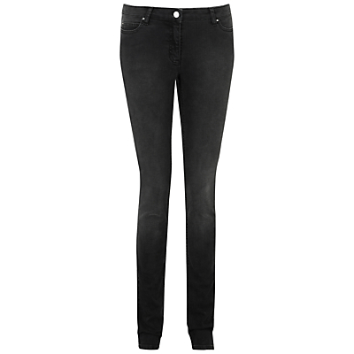 Kendrick Slim Leg Jeans, Grey - length: standard; pattern: plain; pocket detail: traditional 5 pocket; style: slim leg; waist: mid/regular rise; predominant colour: charcoal; occasions: casual, evening, creative work; fibres: cotton - stretch; jeans detail: dark wash; texture group: denim; pattern type: fabric; season: a/w 2015; wardrobe: highlight