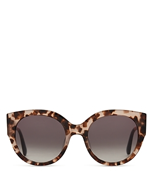 Luisa Sunglasses, 54mm - predominant colour: chocolate brown; occasions: casual, holiday; style: cateye; size: standard; material: plastic/rubber; pattern: tortoiseshell; finish: plain; season: a/w 2015; wardrobe: basic