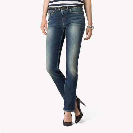 Rome Straight Fit Jeans - style: straight leg; length: standard; pattern: plain; pocket detail: traditional 5 pocket; waist: mid/regular rise; predominant colour: denim; occasions: casual; jeans detail: whiskering, shading down centre of thigh; texture group: denim; pattern type: fabric; season: a/w 2015; wardrobe: basic