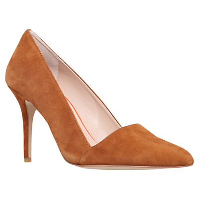 Able High Heeled Stiletto Court Shoes - predominant colour: tan; heel height: high; heel: stiletto; toe: pointed toe; style: courts; finish: plain; pattern: plain; material: faux suede; occasions: creative work; season: a/w 2015; wardrobe: highlight