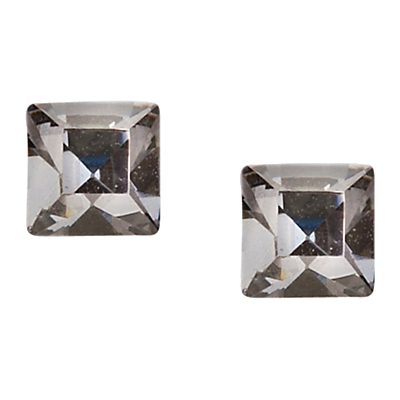 Glass Stone Cube Stud Earrings, Crystal Blue - predominant colour: silver; occasions: evening, occasion; style: stud; length: short; size: small/fine; material: chain/metal; fastening: pierced; finish: plain; embellishment: crystals/glass; season: a/w 2015; wardrobe: event