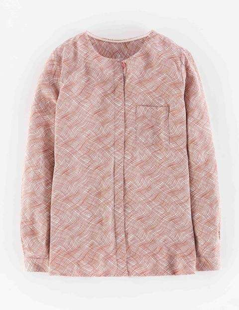 Gwyneth Top Pinks Squiggle Women, Pinks Squiggle - style: blouse; secondary colour: white; occasions: casual, creative work; length: standard; fibres: polyester/polyamide - 100%; fit: straight cut; neckline: crew; sleeve length: long sleeve; sleeve style: standard; pattern type: fabric; pattern: patterned/print; texture group: woven light midweight; predominant colour: dusky pink; season: a/w 2015; wardrobe: highlight