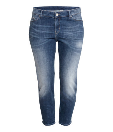 + Girlfriend Jeans - style: boyfriend; pattern: plain; pocket detail: traditional 5 pocket; waist: mid/regular rise; predominant colour: denim; occasions: casual; length: ankle length; fibres: cotton - stretch; jeans detail: whiskering, shading down centre of thigh; texture group: denim; pattern type: fabric; season: a/w 2015; wardrobe: basic